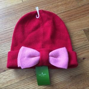 6b4168789f6c9 NWT Kate Spade Knit Bow Hat